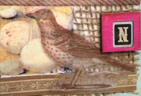 mixed media artist trading card by Naomi Walsh Montoro ©2013