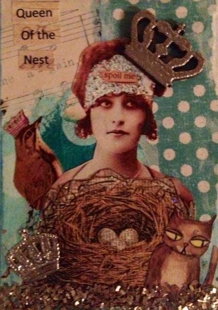 mixed media artist trading card by Nikki Smith © 2013