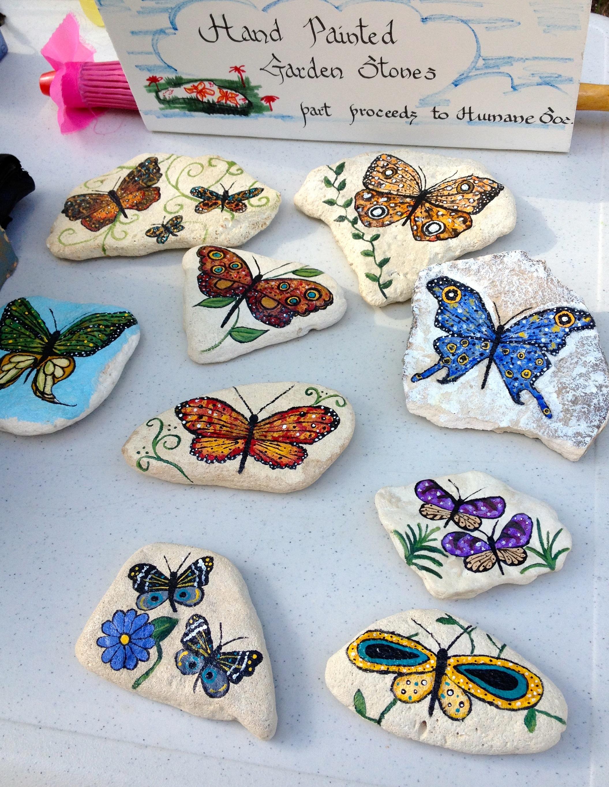 handpainted stones by artist Shanin Hughes