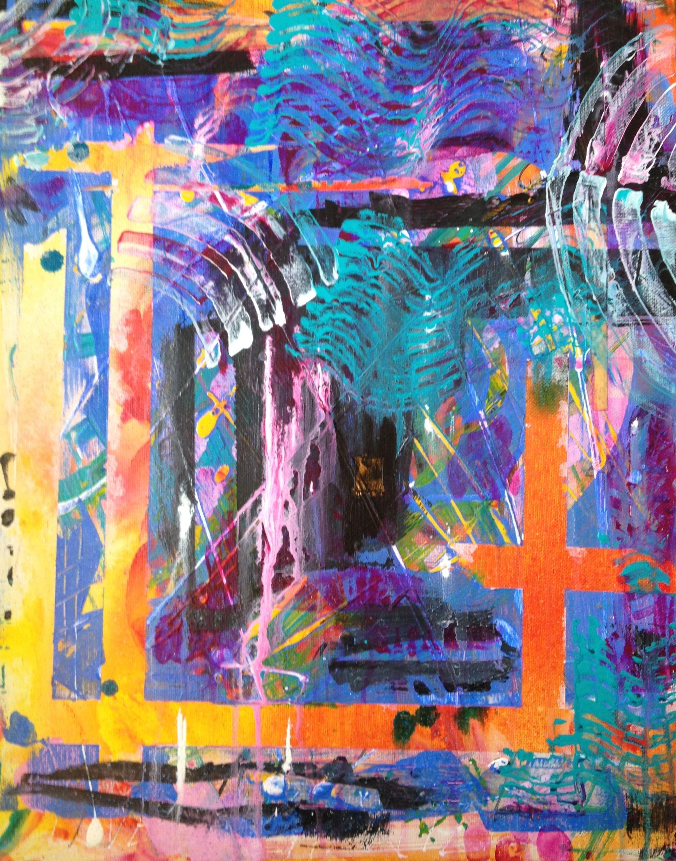 The Natural Structure of Vibrant, acrylic on canvas © paula boyd farrington 2014